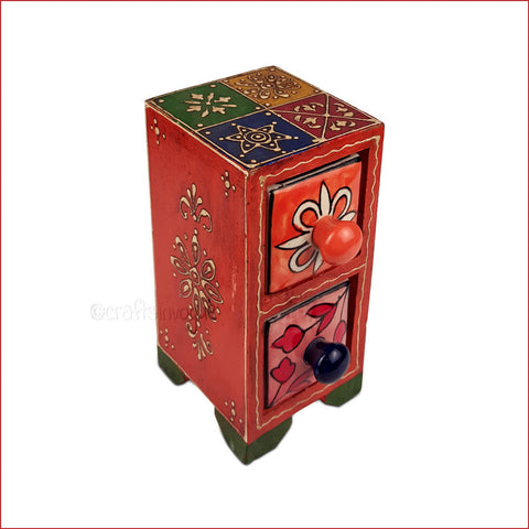 Vintage-styled Tower Multicolour- Assorted Embossed Jewellery box - main