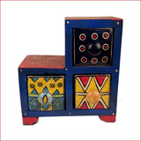Contrasting Similarities blue – Step Jewellery box - front