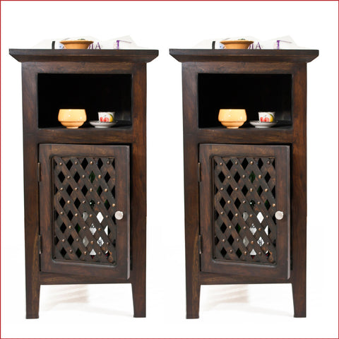 Artistry of Ingenuity - Walnut - Pair of Side tables - Front