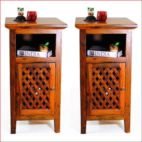 Artistry of Ingenuity - Teak - Pair of Side Table - front