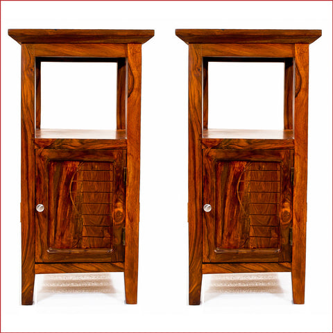 Composure of Supremacy – KOSA - Pair of Teak Side Table