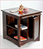 Gratifying Furnishing – Latika - Walnut Side Table - Angle
