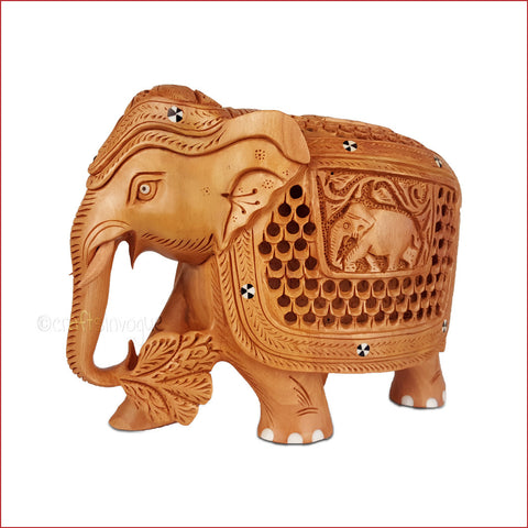 Crafts in Vogue-Majestic Parade-Carved Jalidar Elephant-Main