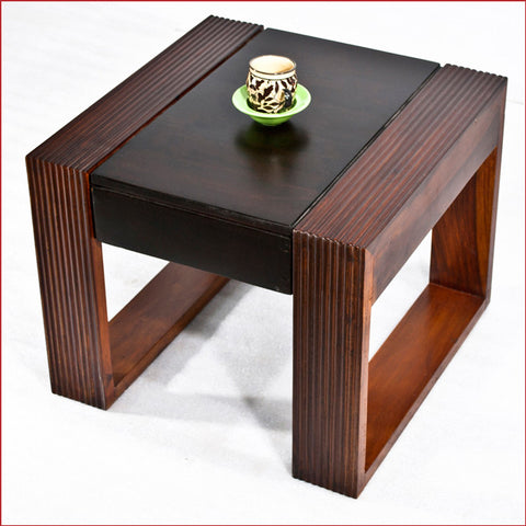 Crafts in Vogue  Essentially Stylish – Nova - Walnut - Teak Side Table