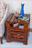 Crafts in Vogue - Urbane Masterpiece – PLANKO - TEAK side table - Main