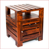 Urbane Masterpiece – PLANKO - TEAK side table - 3D