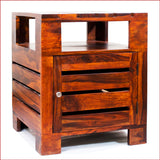 Urbane Masterpiece – PLANKO - TEAK side table - 3D-2