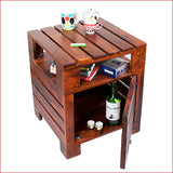 Urbane Masterpiece – PLANKO - TEAK side table - reference