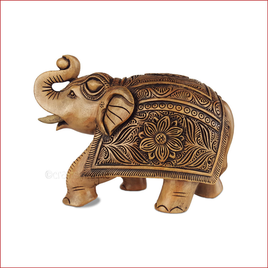 Dusky Tusker - Carved Elephant sculpture - Crafts in Vogue