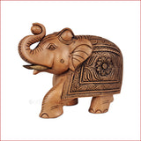Majestic Salute - Carved Elephant showpiece - Crafts in Vogue