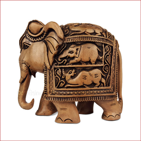 Antique Royal Jumbo - Carved Elephant sculpture - Crafts in Vogue