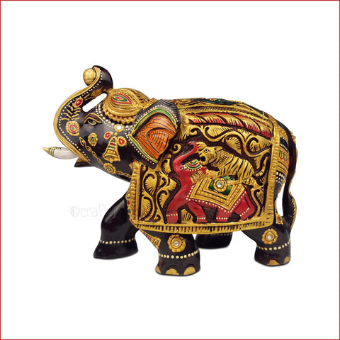 Glorious Triumphant - Carved elephant sculpture - Main