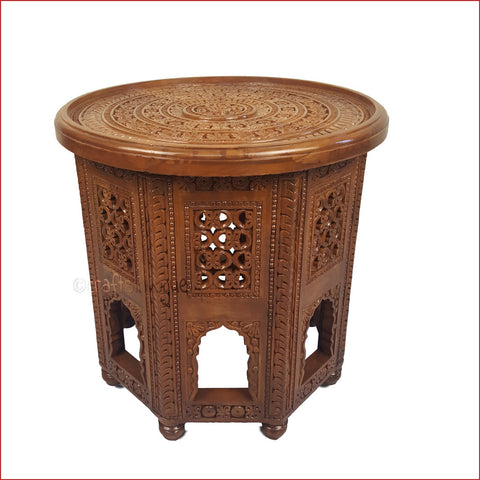 Accuracy Redefined – Carved Coffee/Side table - 3D