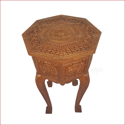 Crafts in vogue-Precise Nobility – Carved Side table-main