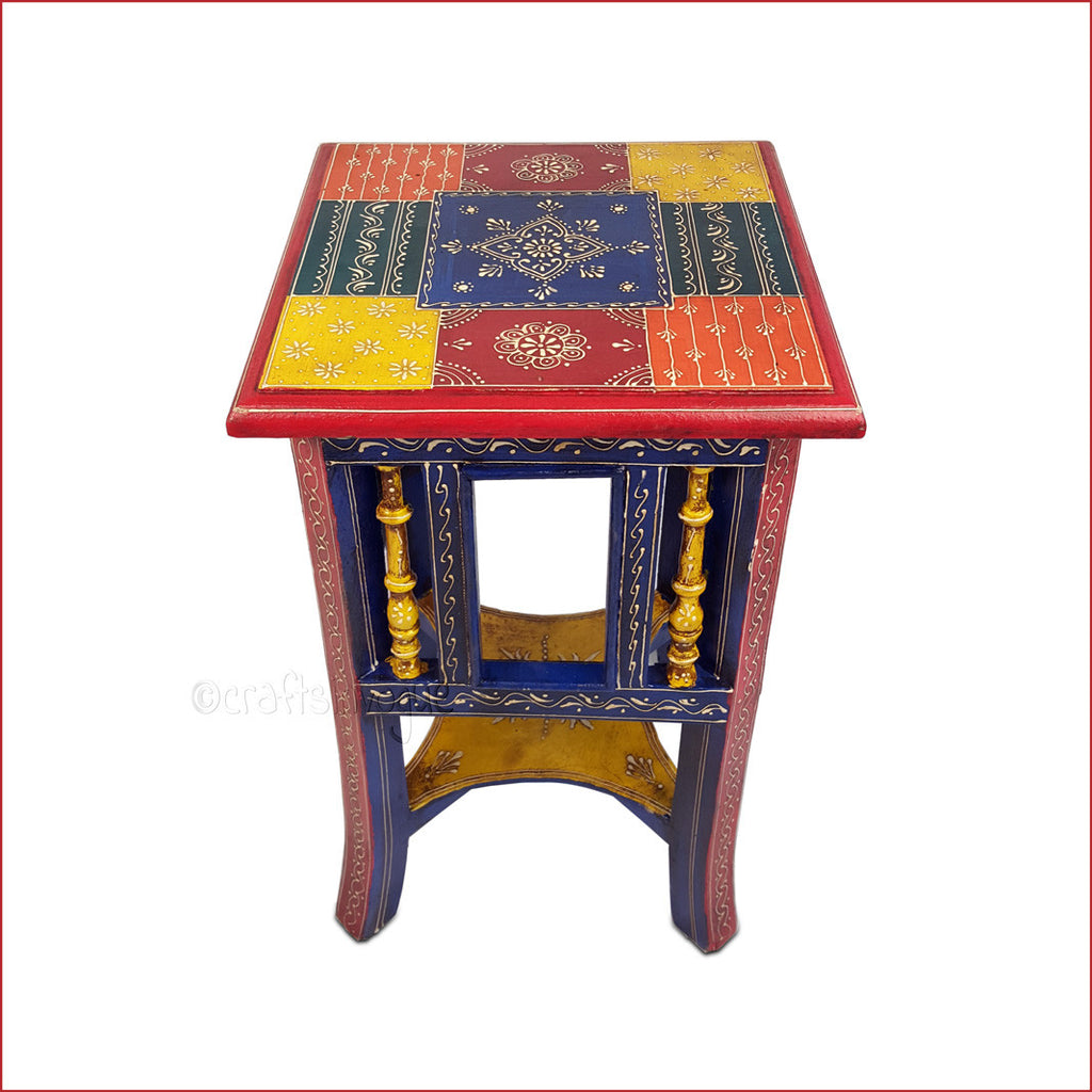 Ethnicity Revisited – Multicolour embossed side table - Main