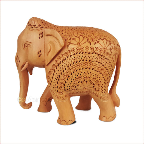 Crafts in Vogue - Treading In Exuberance – Star Carved elephant_Side