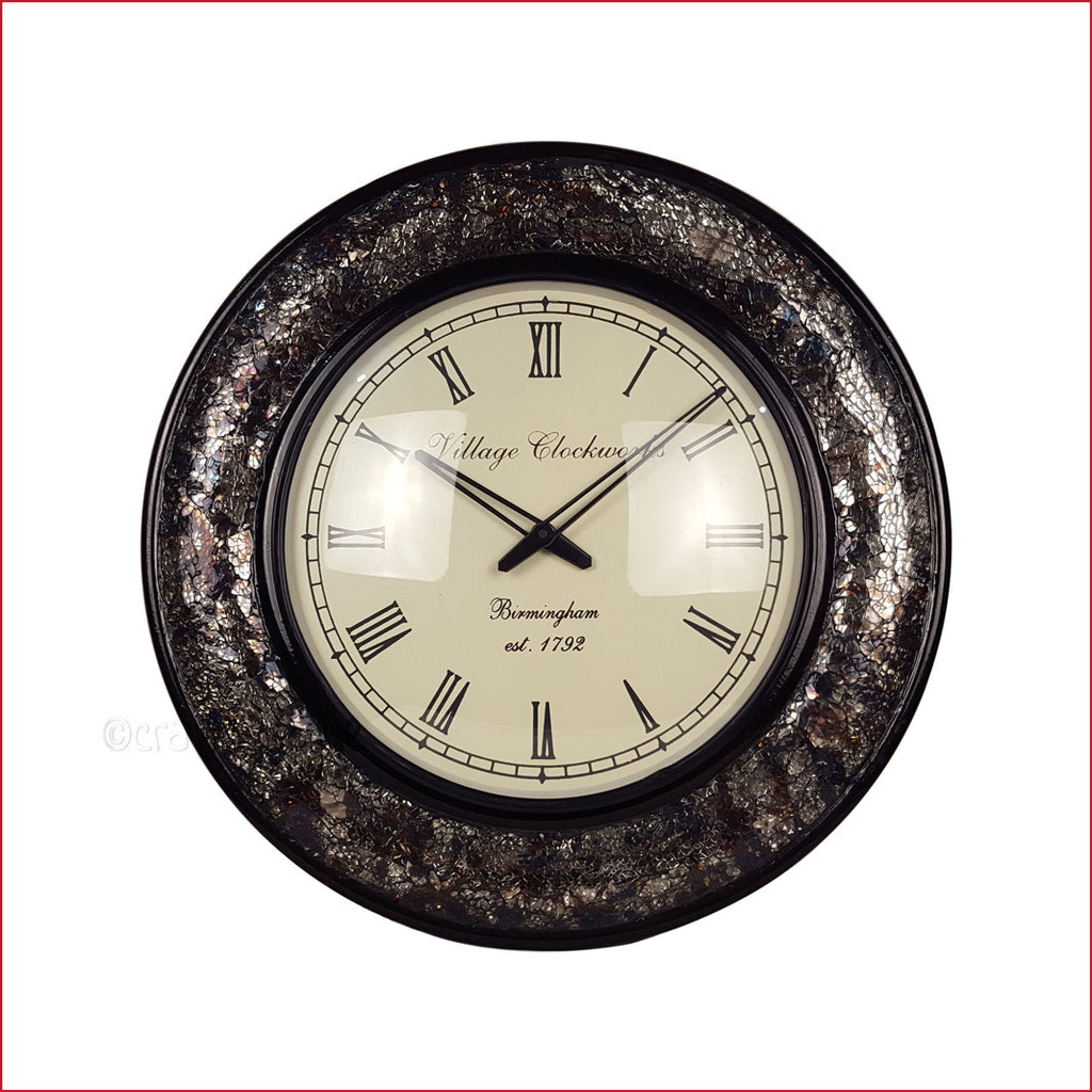 Rummaging Through History – Vintage Glass Wall Clock - Front