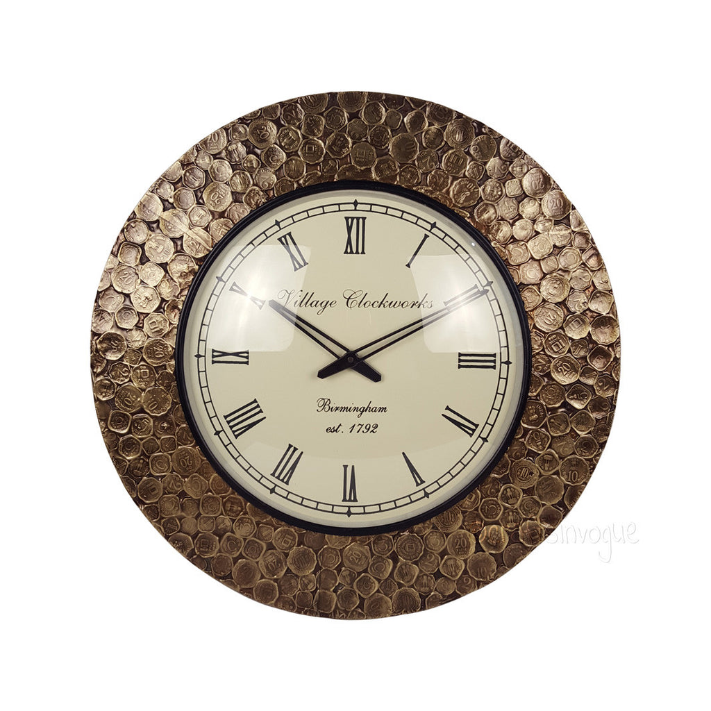 Everlasting Artistry – Coin embossed wall clock