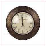Time-honored Elegance - pattern moulded wall clock-front