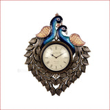 Eternal Sophistication - Dual peacock wall clock - front