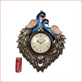 Eternal Sophistication - Dual peacock wall clock - reference