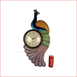 Crafts in Vogue- Classic Peacock Wall Clock Embellishment-colourful feather - reference