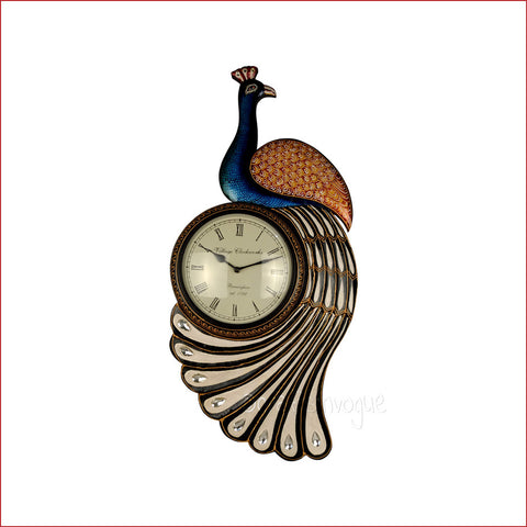 Crafts in Vogue- Classic Peacock Wall Clock Embellishment - White feather
