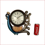 Crafts in vogue - Timeless Beauty - Dancing Peacock Wall Clock - reference
