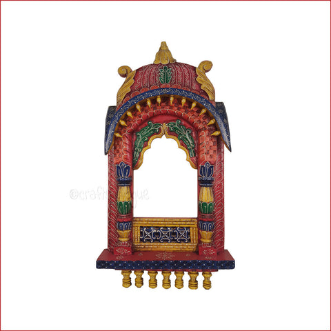 Attire It Up – Embossed multicolour temple style Oriel 36 INCH - front