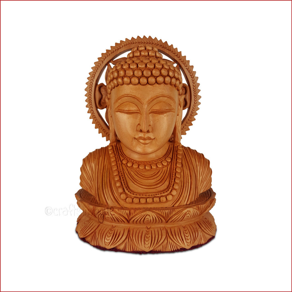 Crafts in vogue-Serenity Revisited-Carved Buddha Bust-Main