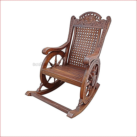 Crafts in Vogue - Striding Through The Memories  - Wooden Rocking Chair