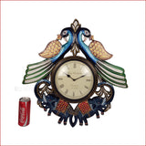 Boundless Glory – Peacock and elephant wall clock - Reference