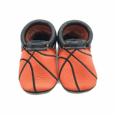 Basketball Baby Moccasins by Olive & Bean