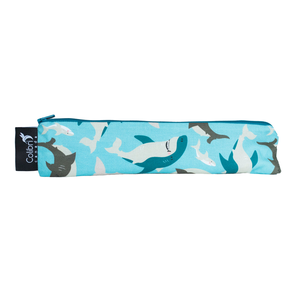 Sharks Reusable Snack Bag - Wide