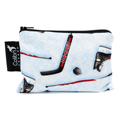 Hockey Reusable Snack Bag - Small - Colibri Canada