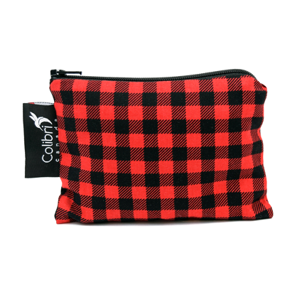 Plaid Reusable Snack Bag - Small - Colibri Canada