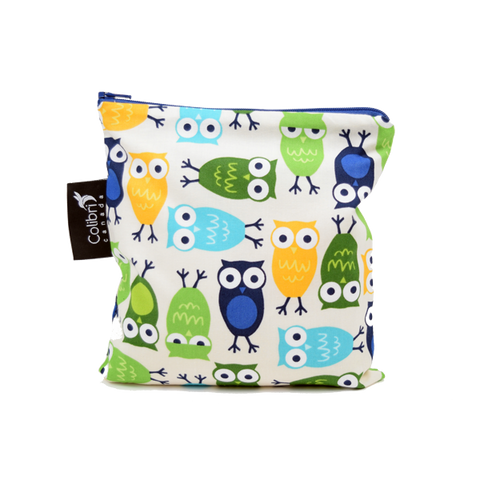 Owls Reusable Snack Bag - Large - Colibri Canada