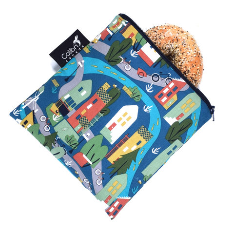 Urban Cycle - Reusable Snack Bag - Large
