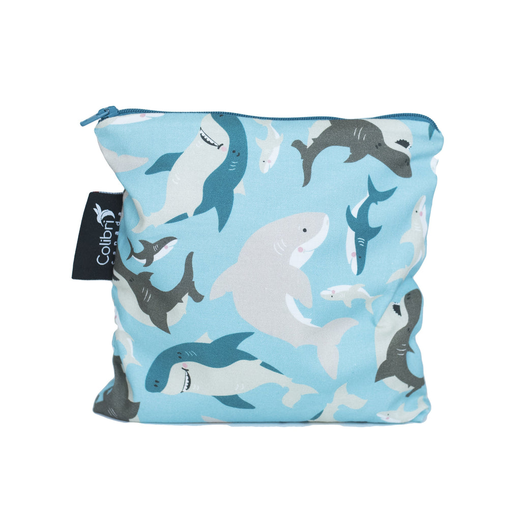 Sharks Reusable Snack Bag - Large