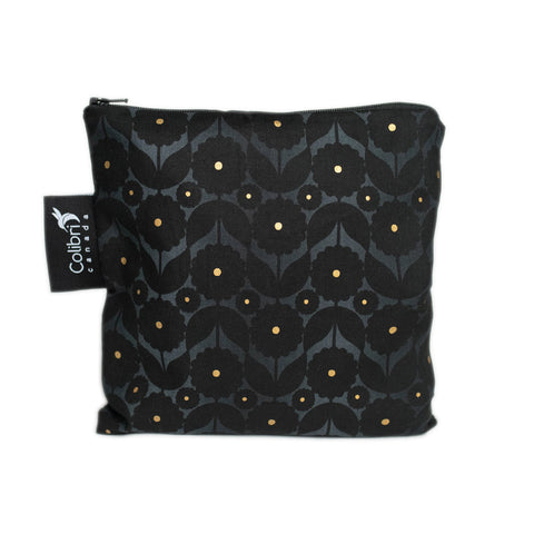 Midnight Flower Reusable Snack Bag - Large