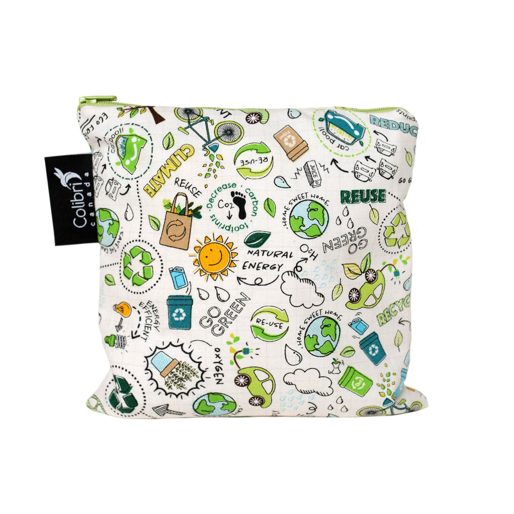 Recycle Reusable Snack Bag - Large
