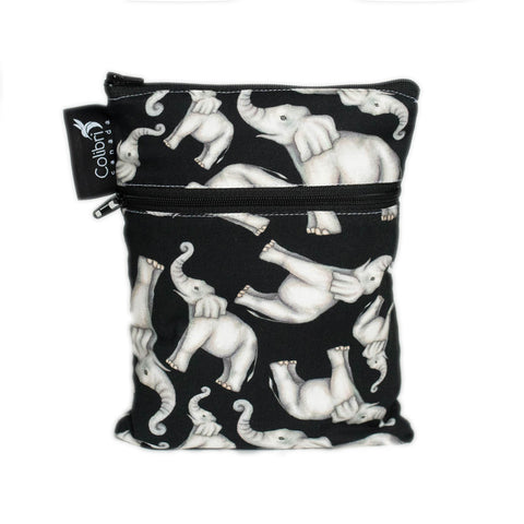Elephant Mini Double Duty Wet Bag