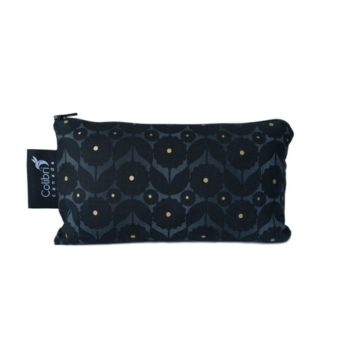 8112 - Midnight Flower Reusable Snack Bag - Medium