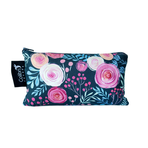 8114 - Roses Reusable Snack Bag - Medium