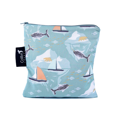 Narwhal - Reusable Snack Bag - Large
