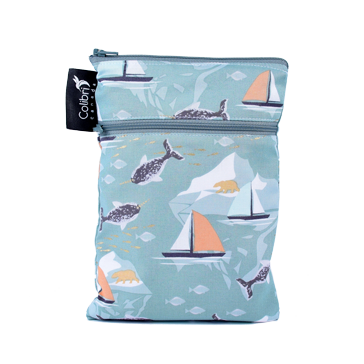 Narwhal - Mini Double Duty Wet Bag