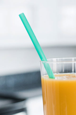 Reusable Silicone Straw - SINGLE - Teal