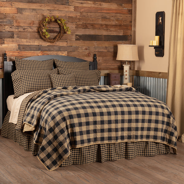 Black Check Coverlet Collection