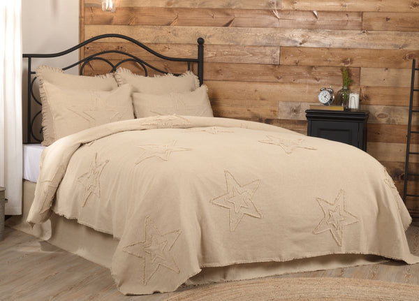 Burlap Vintage Star Coverlet Collection
