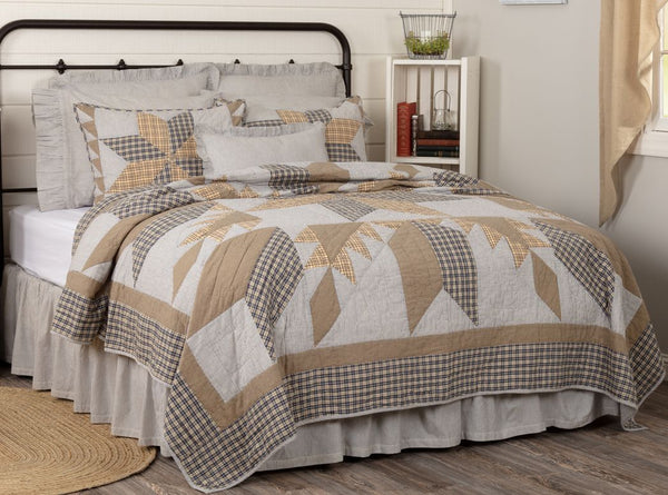 Dakota Star Farmhouse Blue Bedding Collection